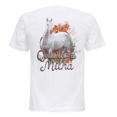 Camiseta Branca Quarto de Milha Masculina Texas Diamond 27837
