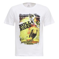 Camiseta Bull Riders Branca Texas Masculina Diamond 27855