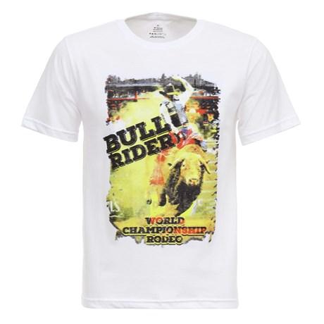 Camiseta Bull Riders Branca Texas Masculina Diamond 27855
