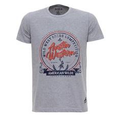 Camiseta Cinza Estampada Austin Western 28018