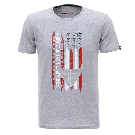 Camiseta Cinza Masculina Estampada Gringa's Original 26774