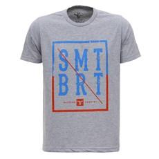 Camiseta Cinza Mescla Masculina Smith Brothers 28179