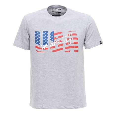 Camiseta Cinza Mescla Masculina USA Tuff 28816