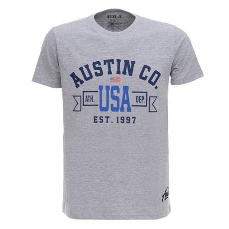 Camiseta Cinza USA Masculina Austin Western 28729