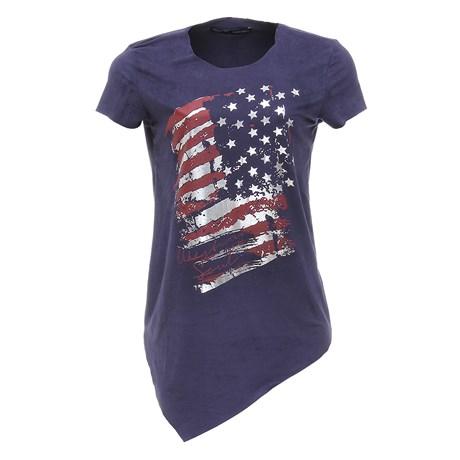 Camiseta Estampada Feminina Azul Marinho Tassa Gold 26782
