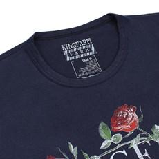 Camiseta Feminina Baby Look Azul King Farm 23758