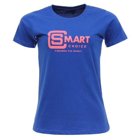 Camiseta Feminina Baby Look Azul Smart Choice 27443