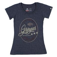 Camiseta Feminina Baby Look Estampada Original Gringa's Western 24959