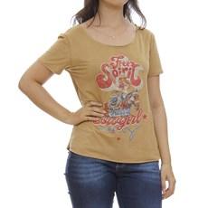 Camiseta Feminina Bege com Nó Tassa 29919