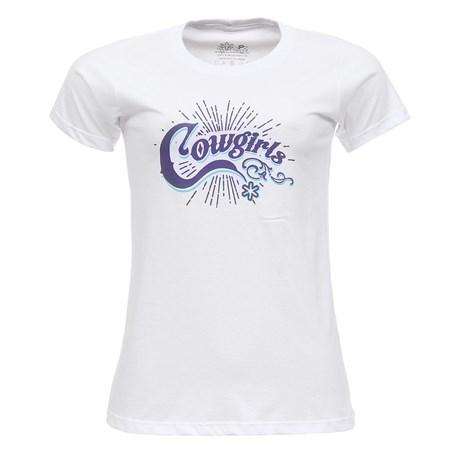 Camiseta Feminina Branca Baby Look Tuff 27446