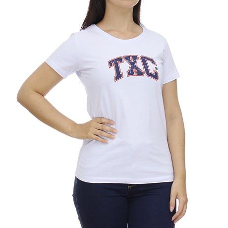 Camiseta Feminina Branca Estampada TXC 28851