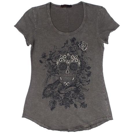 Camiseta Feminina Estampa Manga Curta - Tassa Gold 19342
