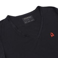 Camiseta Feminina Gola V Tassa Preta 26786