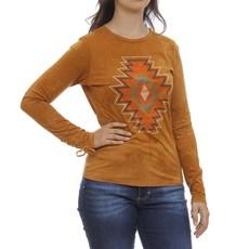 Camiseta Feminina Manga Longa Mostarda Tassa 29925