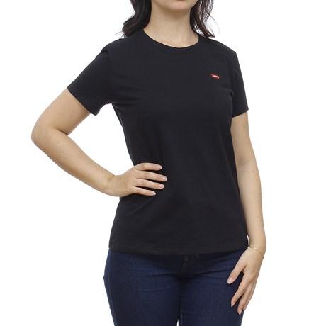 Camiseta Feminina Preta Básica Levi's 29907