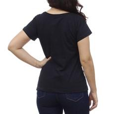 Camiseta Feminina Preta  Básica Original Wrangler 28923