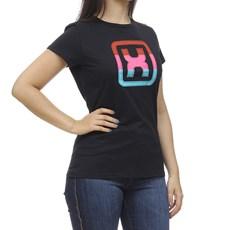 Camiseta Feminina Preta Gola Redonda TXC 30178