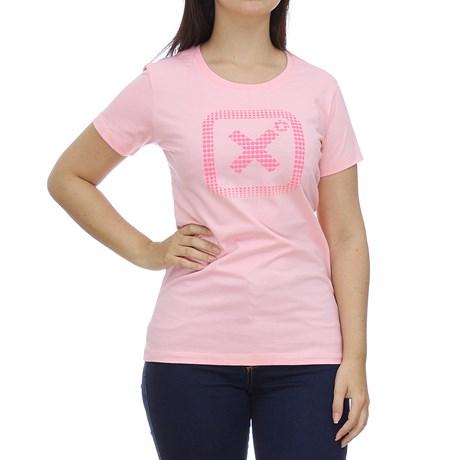 Camiseta Feminina Rosa Estampa em Relevo TXC 28850