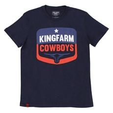 Camiseta Gola Careca Masculina King Farm Azul Marinho 19662