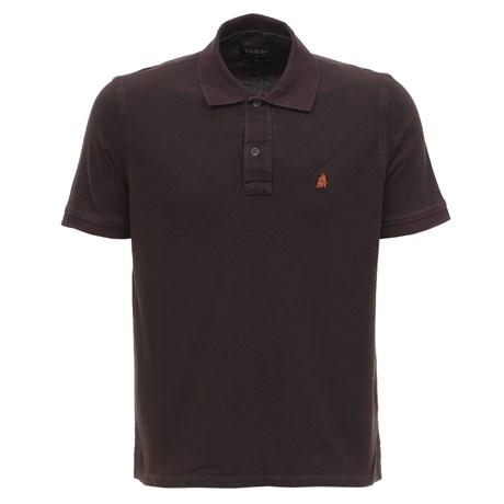 Camiseta Gola Polo Marrom Masculina Tassa 28162