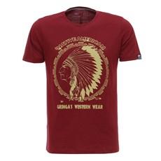 Camiseta Gringa's Masculina Vermelha Estampada 28102