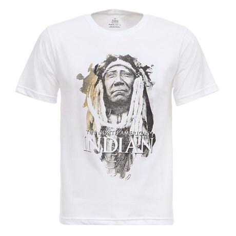 Camiseta Índio Americano Branca Masculina Texas Diamond 27813