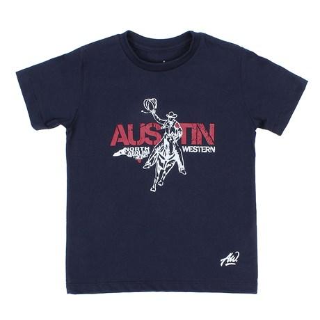 Camiseta Infantil Masculina Azul Marinho Austin Western 29794