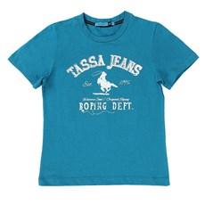 Camiseta Infantil Masculina Azul Turquesa Tassa Boys 21385