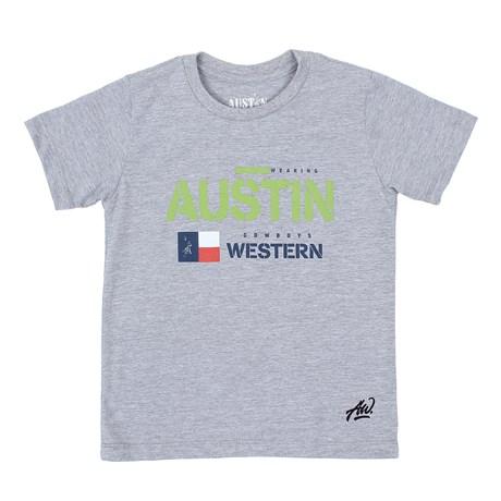 Camiseta Infantil Masculina Cinza Mescla Austin Western 29795