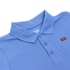 Camiseta Infantil Masculina Gola Polo Azul Levi's 30001