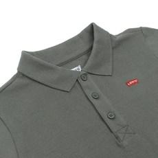 Camiseta Infantil Masculina Gola Polo Verde Levi's 30002