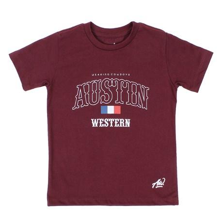 Camiseta Infantil Masculina Vinho Austin Western 29793