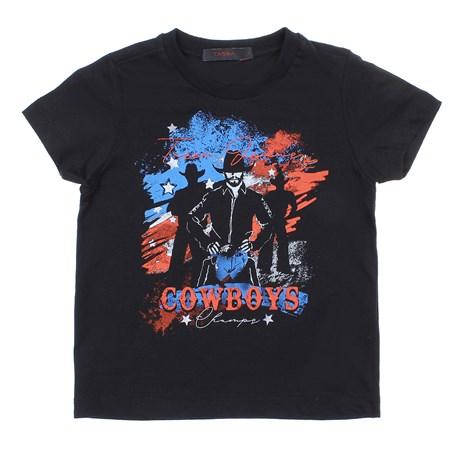 Camiseta Infantil Preta Masculina Estampada 28155