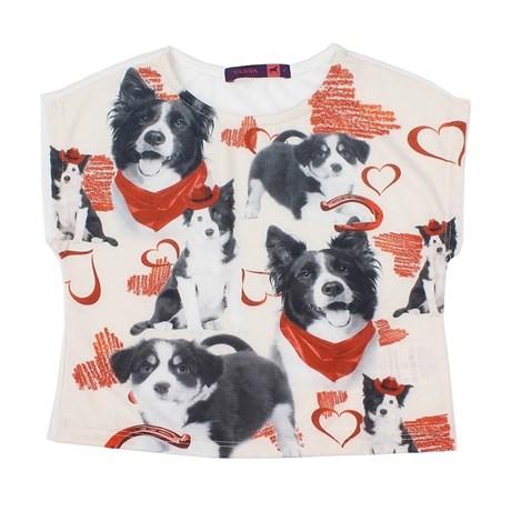 Camiseta Infantojuvenil Girls Estampada Off White - Tassa 14605