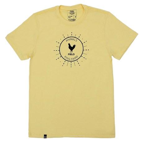 Camiseta King Farm Masculina Amarela 23061