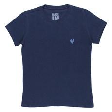 Camiseta Made in Mato Original Feminina Azul Marinho Básica 23996