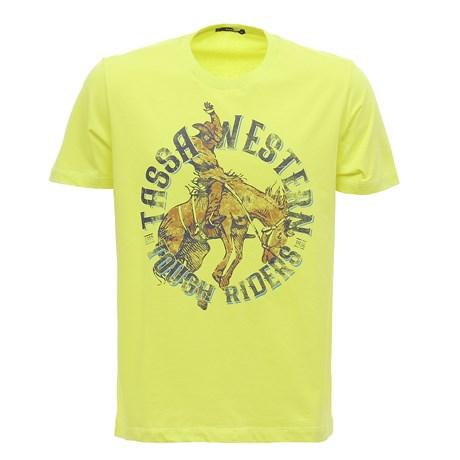 Camiseta Masculina Amarela Estampada Tassa 29928