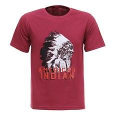 Camiseta Masculina American Indian Vinho Texas Diamond 27836