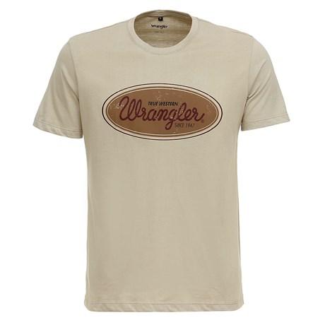 Camiseta Masculina Areia Básica Wrangler Original 28271