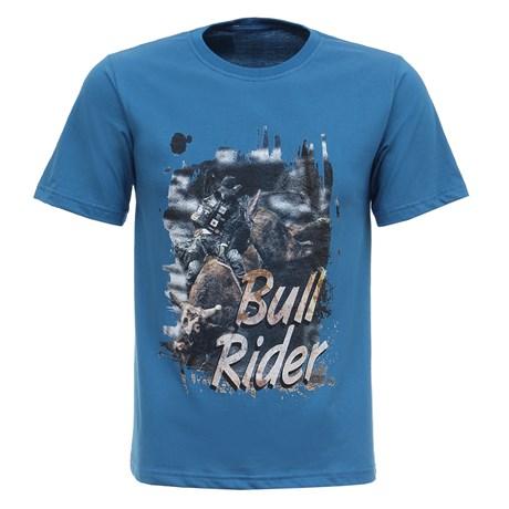 Camiseta Masculina Azul Bull Rider Texas Diamond 27816
