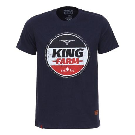 Camiseta Masculina Azul Escuro  King Farm Original 26703