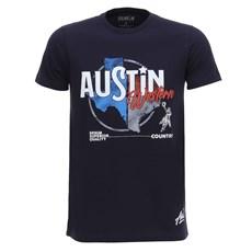 Camiseta Masculina Azul Marinho Austin Western 28445