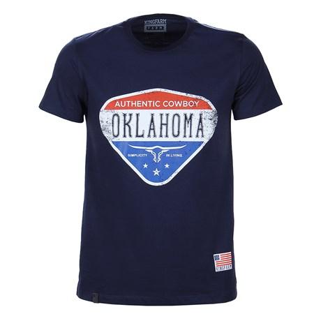 Camiseta Masculina Azul Marinho Estampada King Farm Original 25714