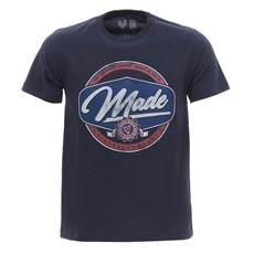 Camiseta Masculina Azul Marinho Estampada Made In Mato 29968