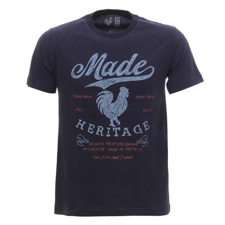 Camiseta Masculina Azul Marinho Estampada Made In Mato 29971