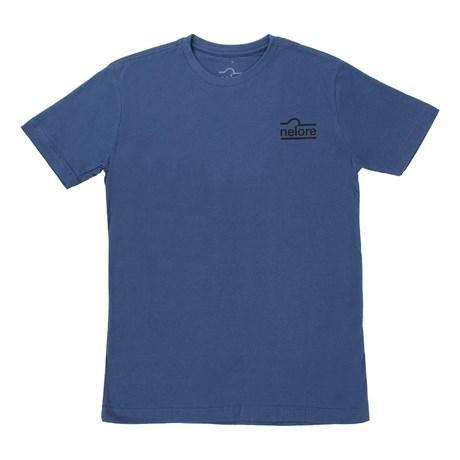 Camiseta Masculina Azul Marinho Estampada - Nelore 17482