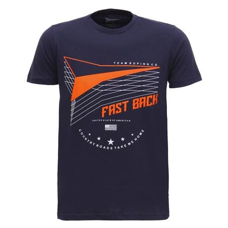 Camiseta Masculina Azul Marinho Fast Back  28450