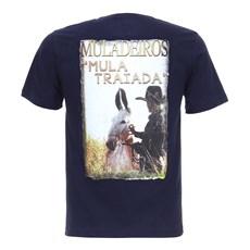 Camiseta Masculina Azul Marinho Muladeiros Texas Diamond 27826
