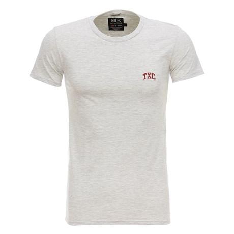Camiseta Masculina Básica Cinza Mescla TXC 28790