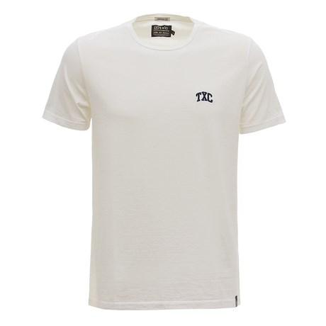 Camiseta Masculina Básica Off White TXC 30184